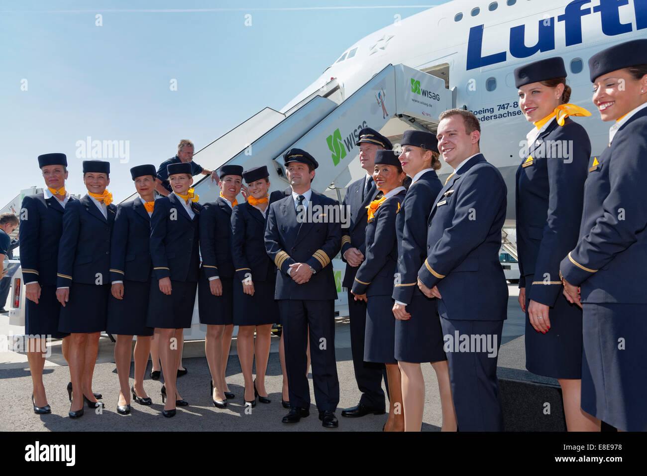 Schönefeld Deutschland Taufe Von Der Lufthansa Boeing 747