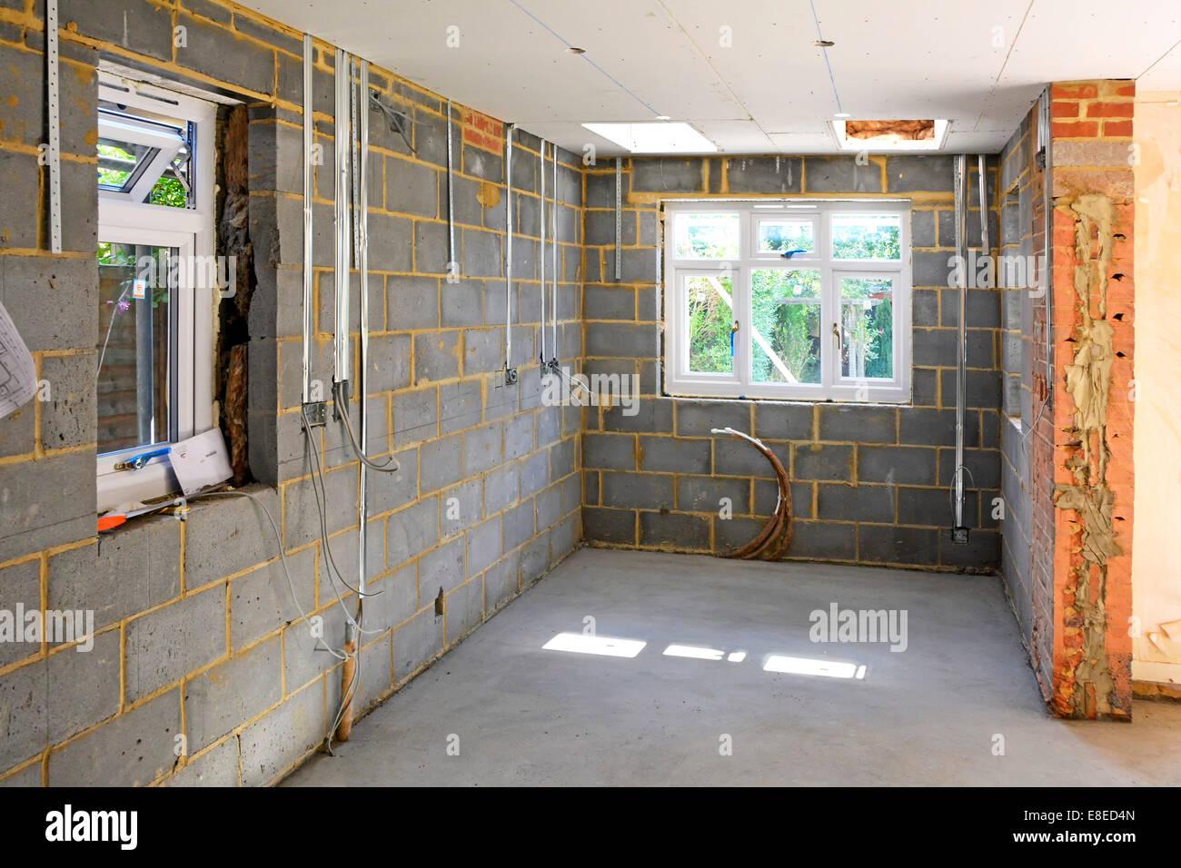 Extrem Haus Erweiterung Einfamilienhaus neue Küche neben bestehenden XU05