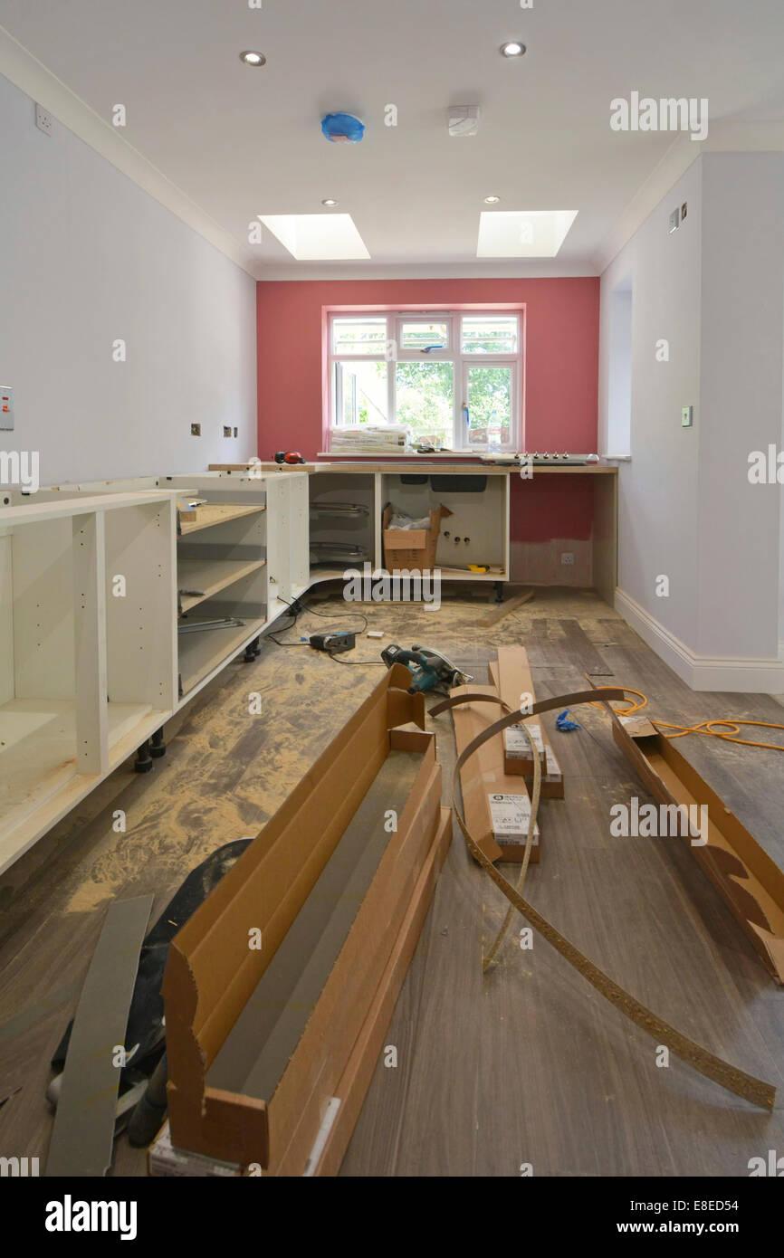 Küchenschränke im neuen Erweiterungsbau Haus essex England ...