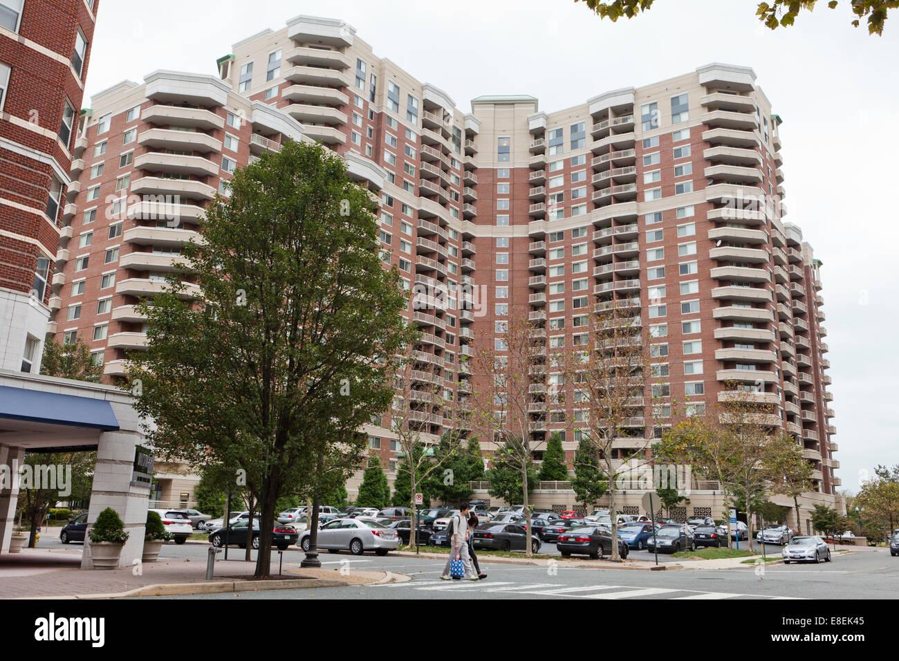 High-Rise Eigentumswohnung Gebäude - Ballston Nachbarschaft, Arlington, Virginia, Vereinigte Staaten Stockbild