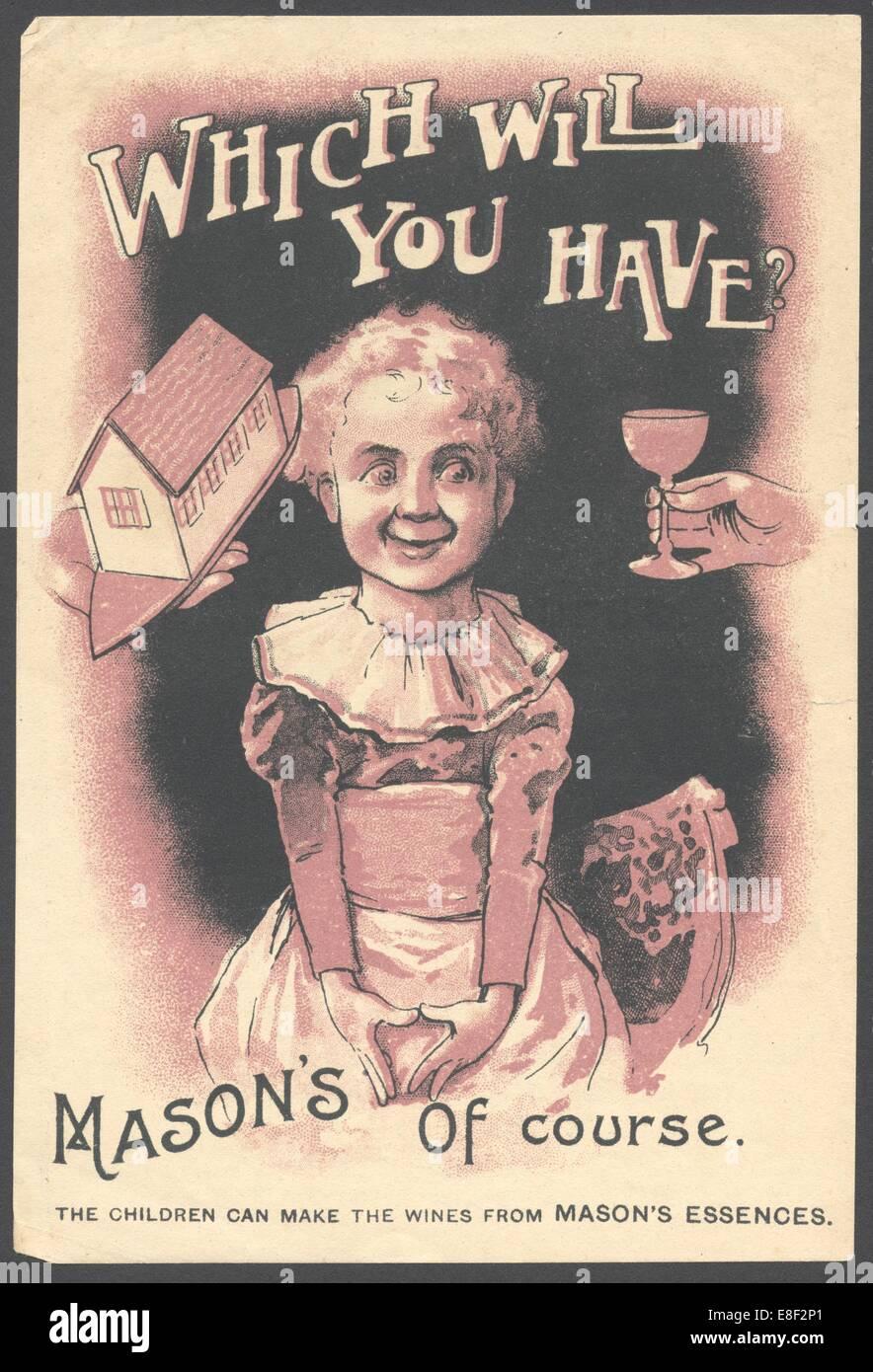 Newball & Mason Wein Wesen, der 1890er Jahre. Stockbild