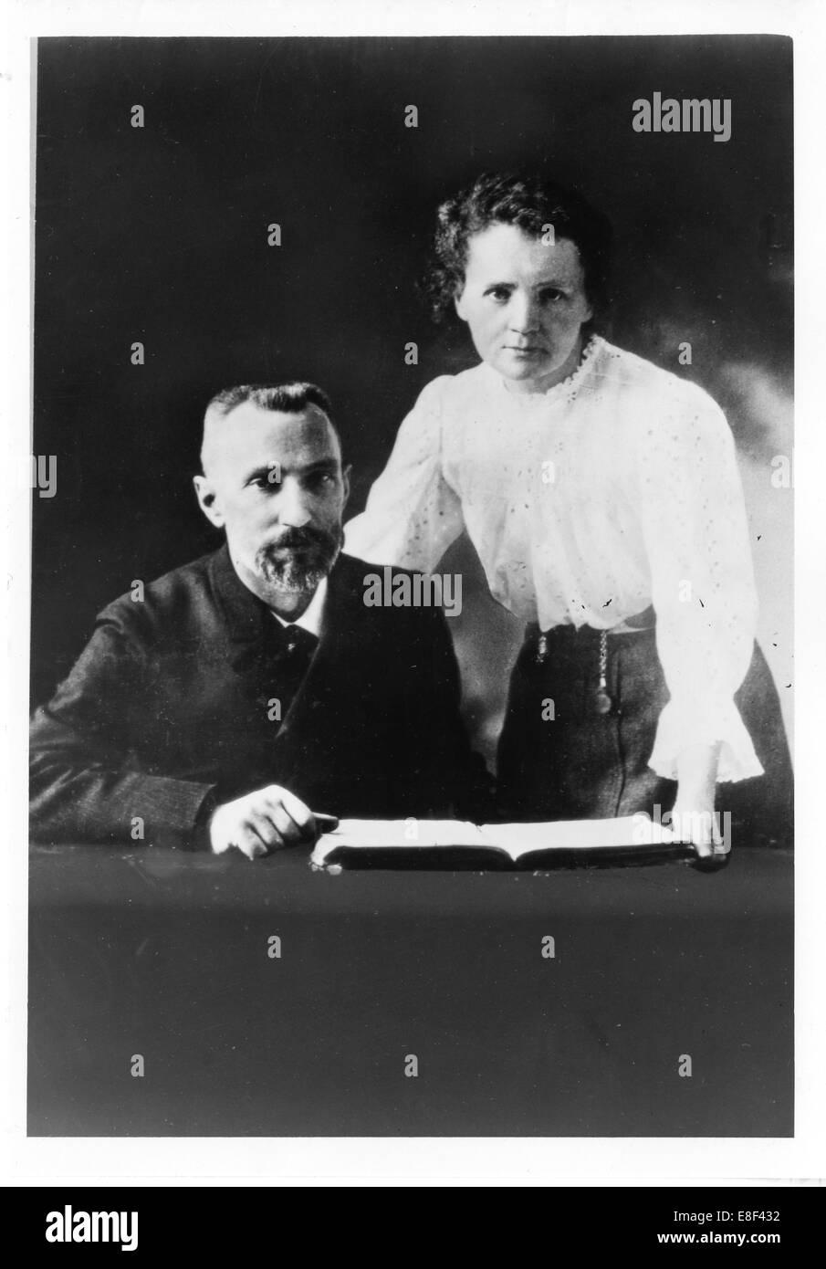 Pierre Curie (1859-1906) und Marie Sklodowska-Curie (1867-1934) Künstler: anonym Stockfoto