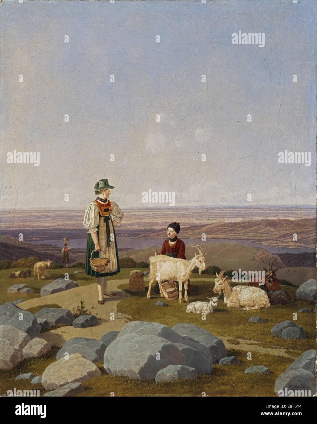 Auf Gaisalm. Künstler: Bemerkt, Wilhelm, Ritter von (1766-1853) Stockbild