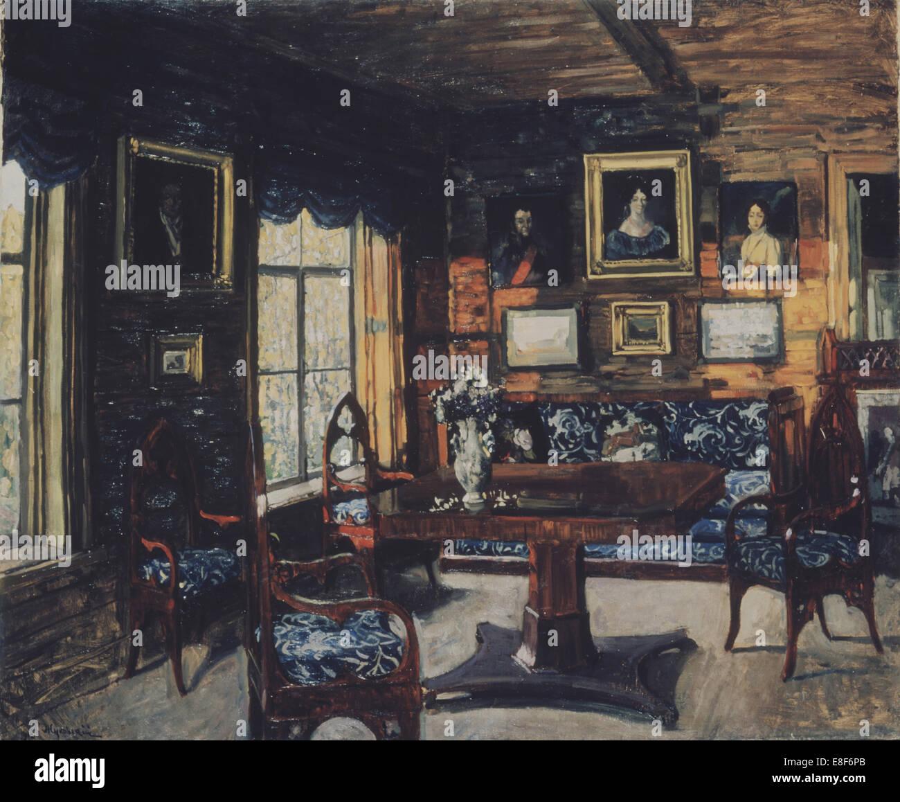 Der Salon im Gutshaus Weihnachten. Künstler: Schukowski, Stanislav ...