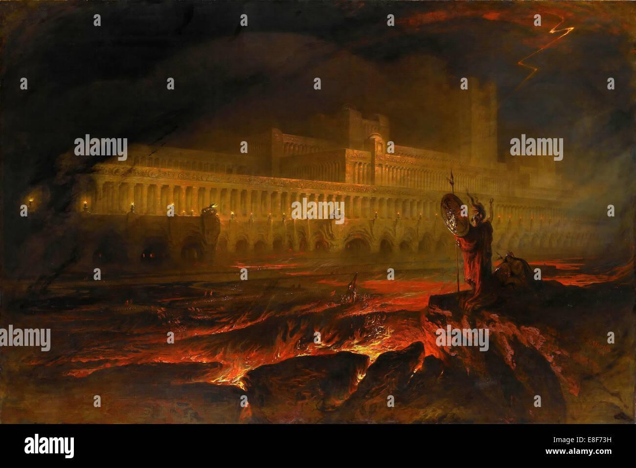 Pandemonium. Künstler: Martin, John (1789-1854) Stockbild