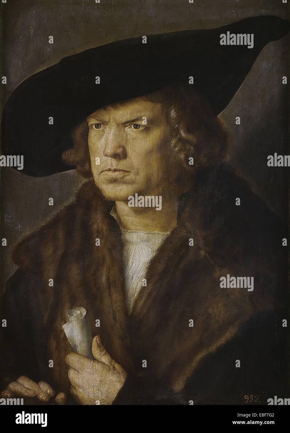 Porträt eines unbekannten Mann Künstlers: Dürer, Albrecht (1471-1528) Stockbild