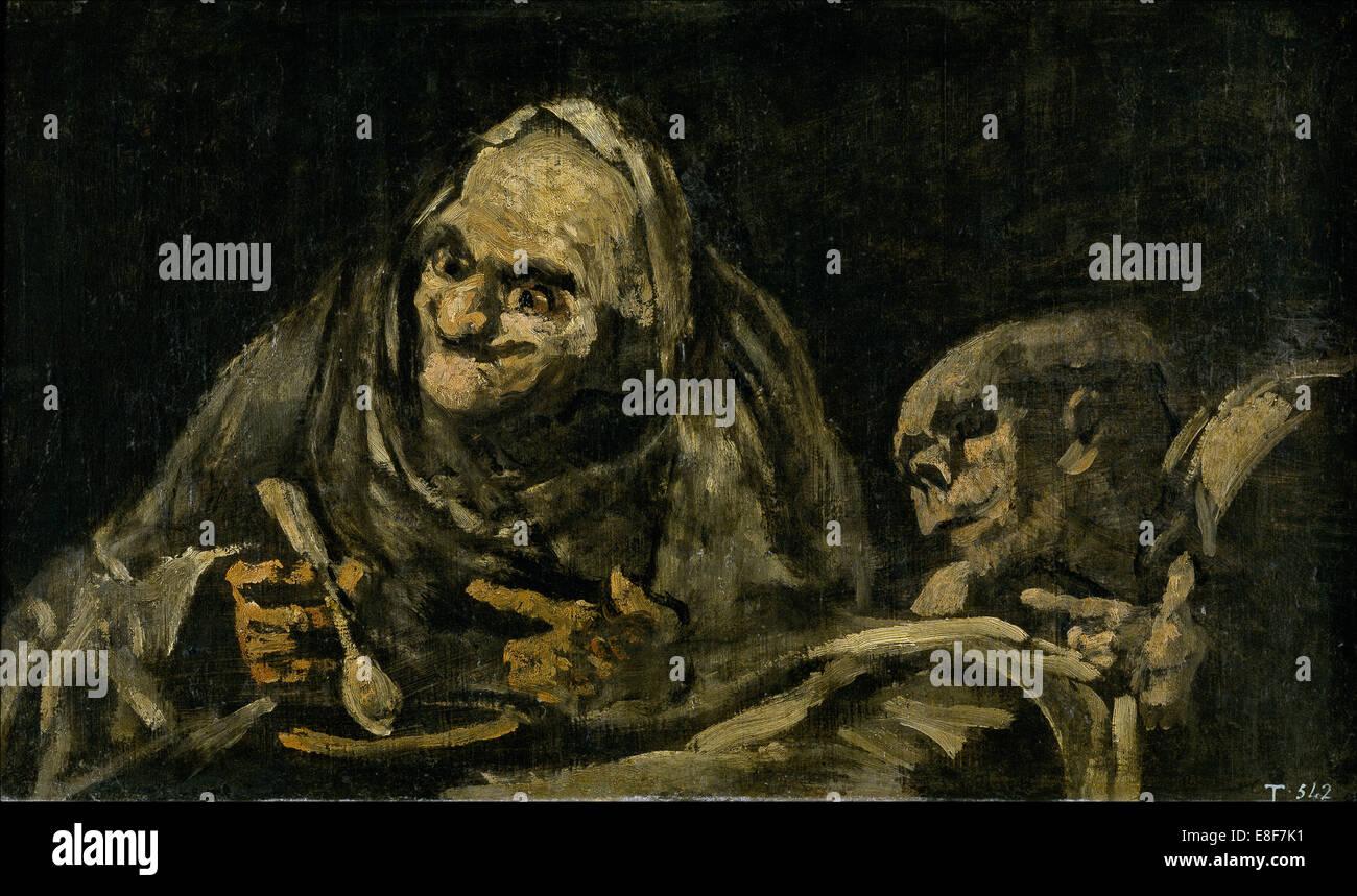 Künstler Essen zwei alte männer essen suppe witchy brew künstler goya
