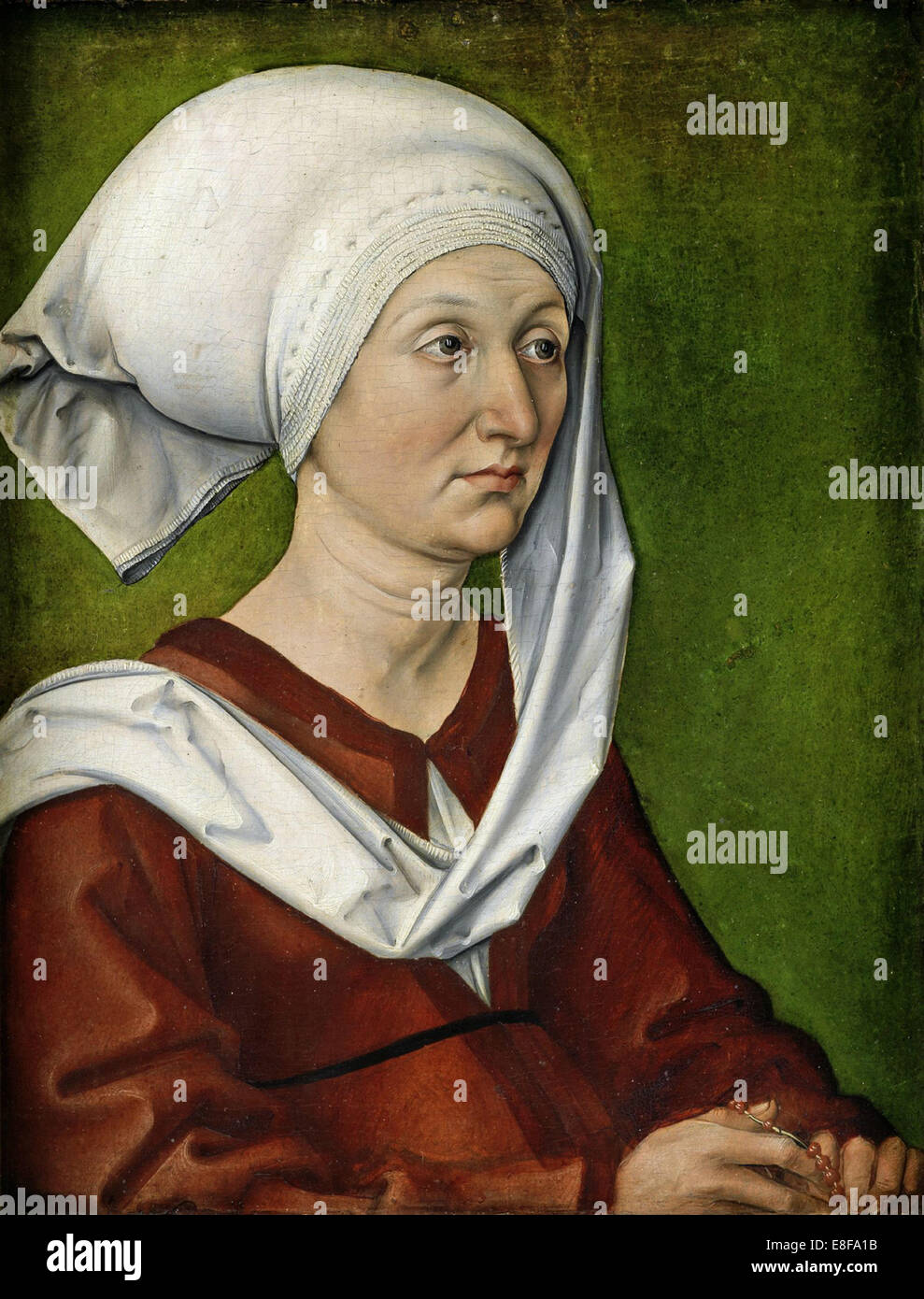 Porträt des Künstlers? s Mutter, Barbara Dürer, geb. Holper. Künstler: Dürer, Albrecht Stockbild