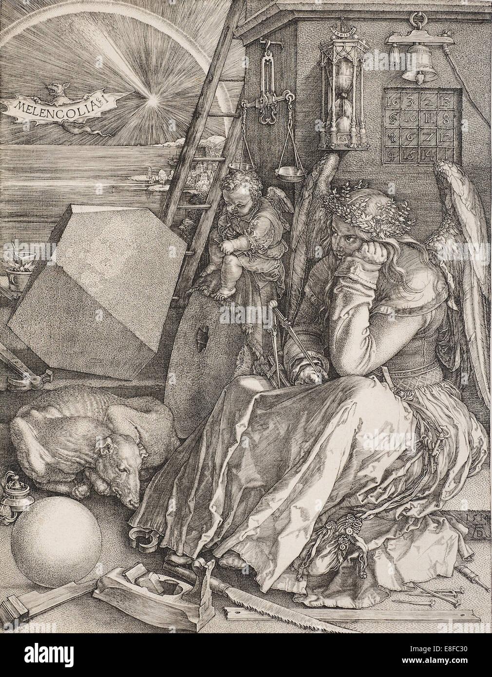 Melencolia I. Künstler: Dürer, Albrecht (1471-1528) Stockbild