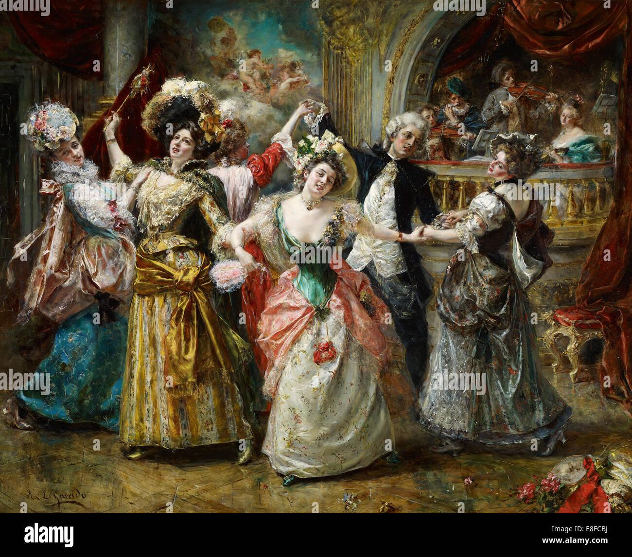 Der Beau bei der Soirée. Künstler: Garrido, Eduardo León (1856-1949) Stockbild