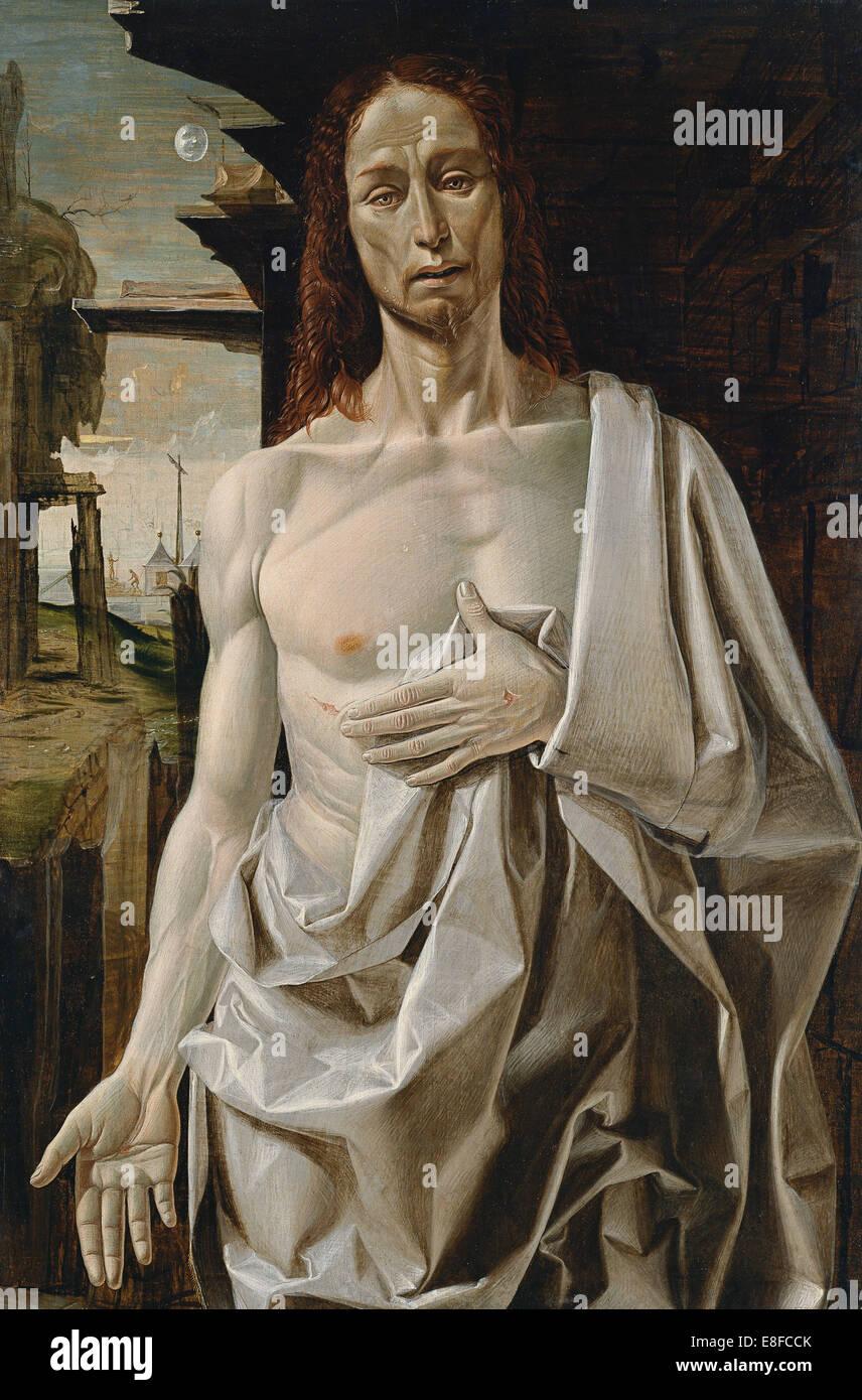 Der auferstandene Christus. Künstler: Bramantino (1465-1530) Stockbild
