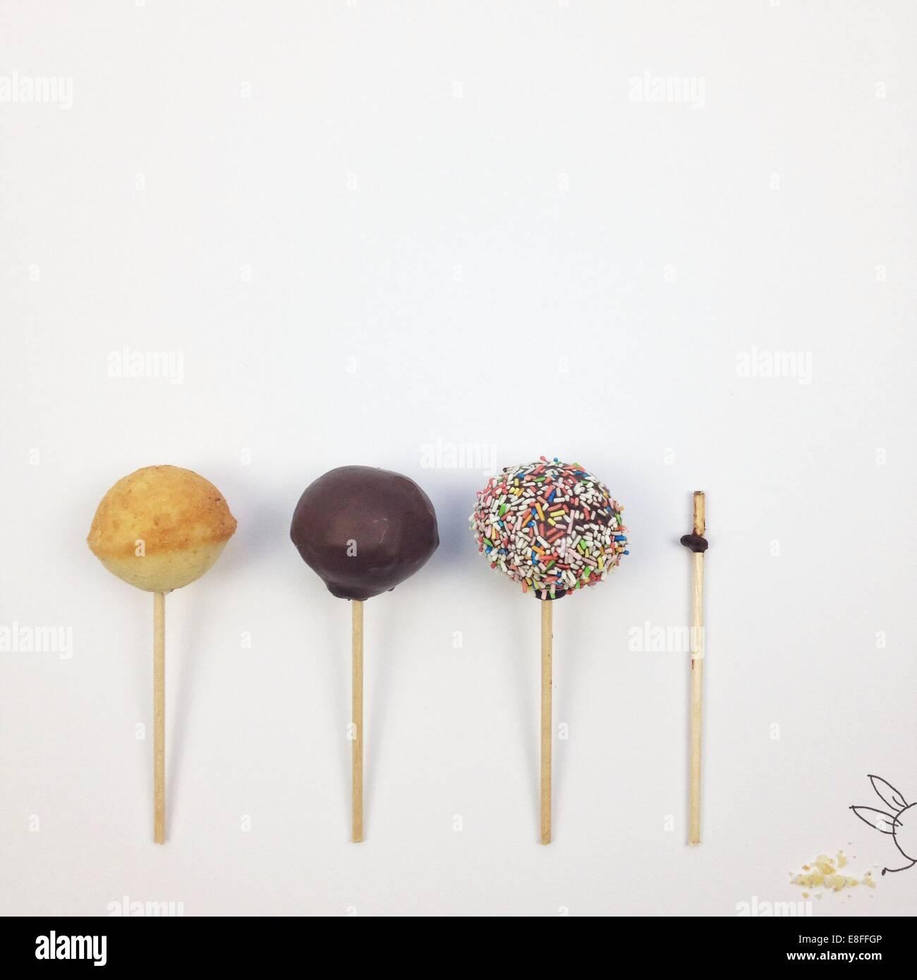 Konzeptionelle Fantasy Charakter Süßwaren Essen Stockbild