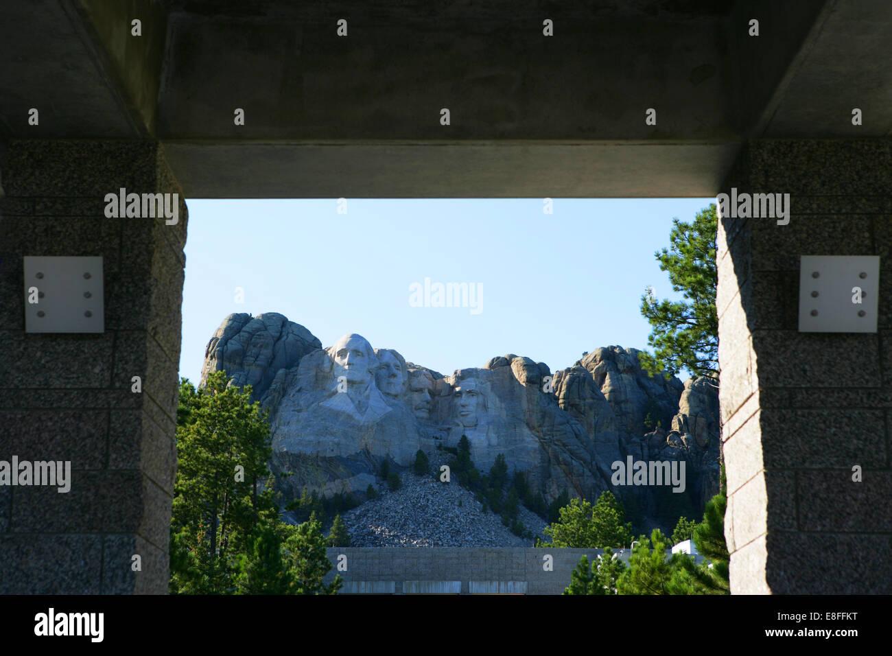 Mount Rushmore National Memorial, South Dakota, Amerika, USA Stockbild