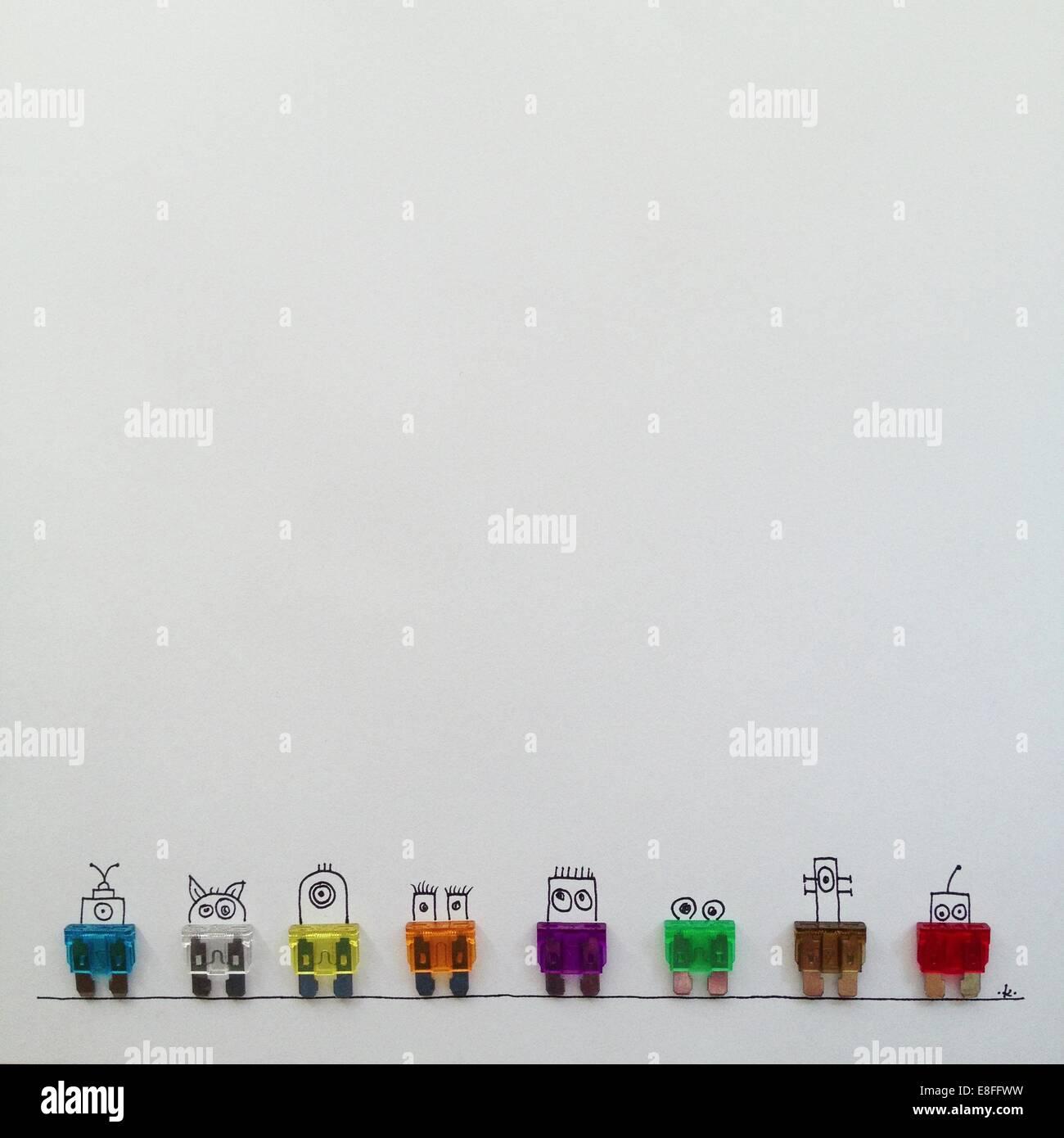 Reihe von Fantasy-Charaktere Stockbild