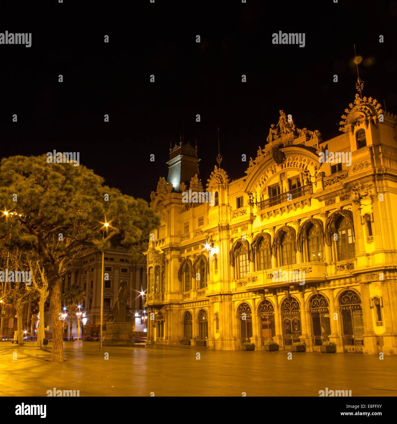 Spanien, Katalonien, Barcelona, zentralen Gebäude der Hafen von Barcelona Stockbild