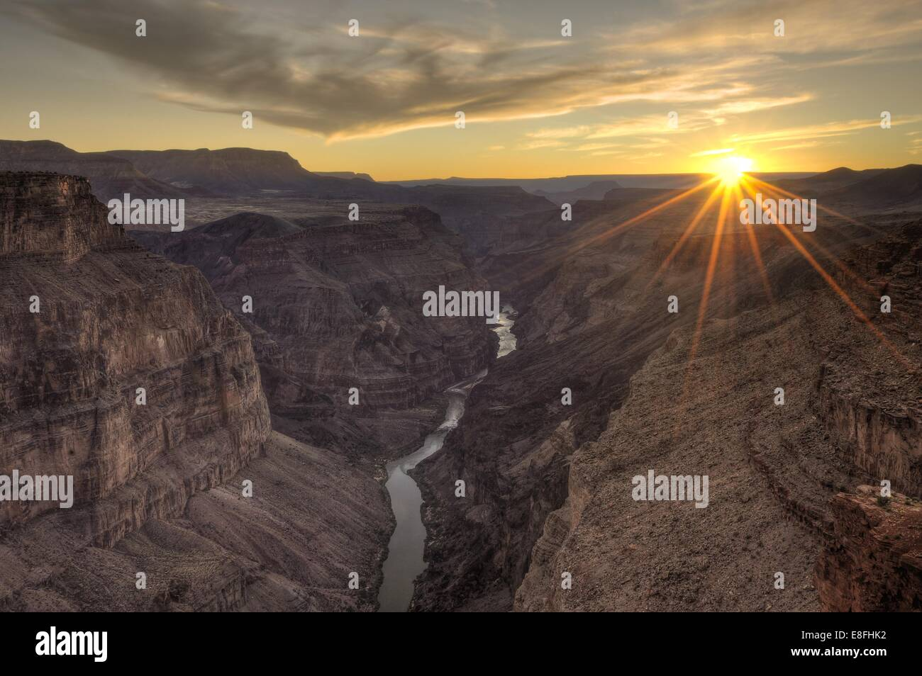 Arizona, Grand Canyon National Park, Sonnenuntergang am Toroweap Stockbild