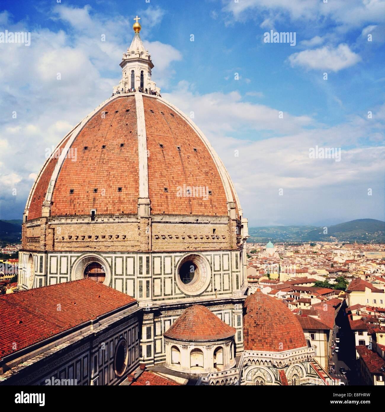 Italien, Toskana, Florenz, Kuppel der Kathedrale von Florenz Stockbild