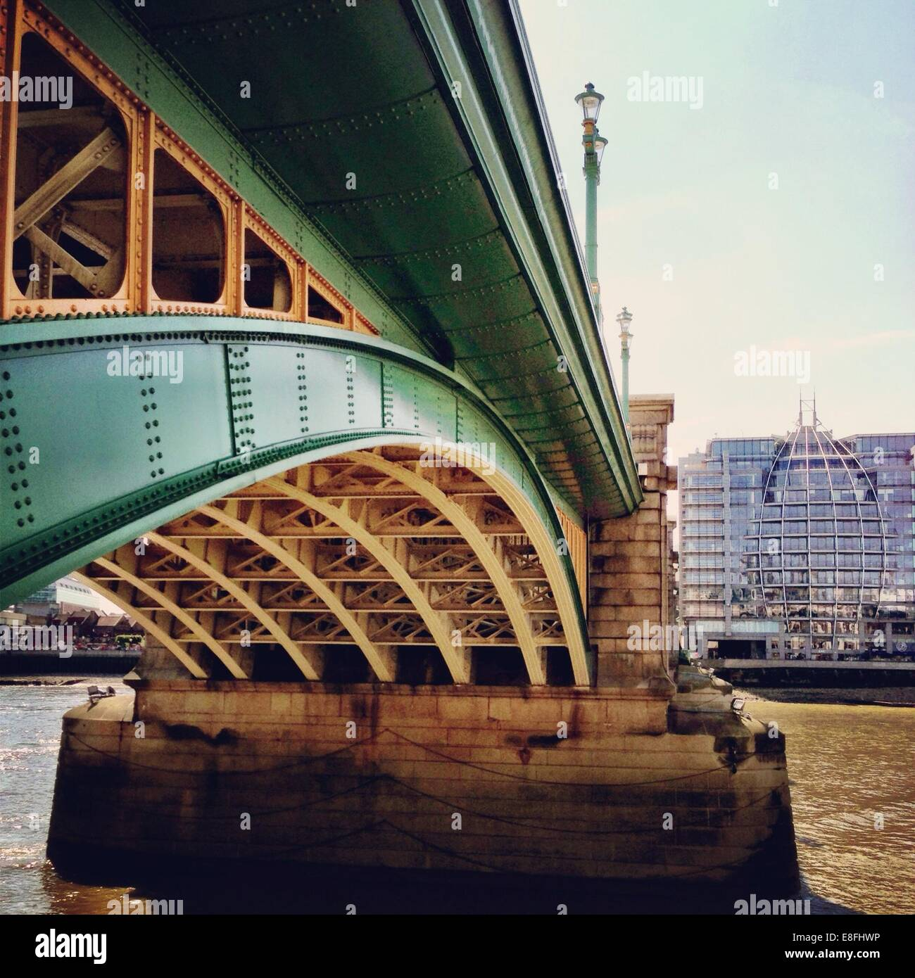 Vereinigtes Königreich, London, Greater London, Southwark Bridge Stockbild