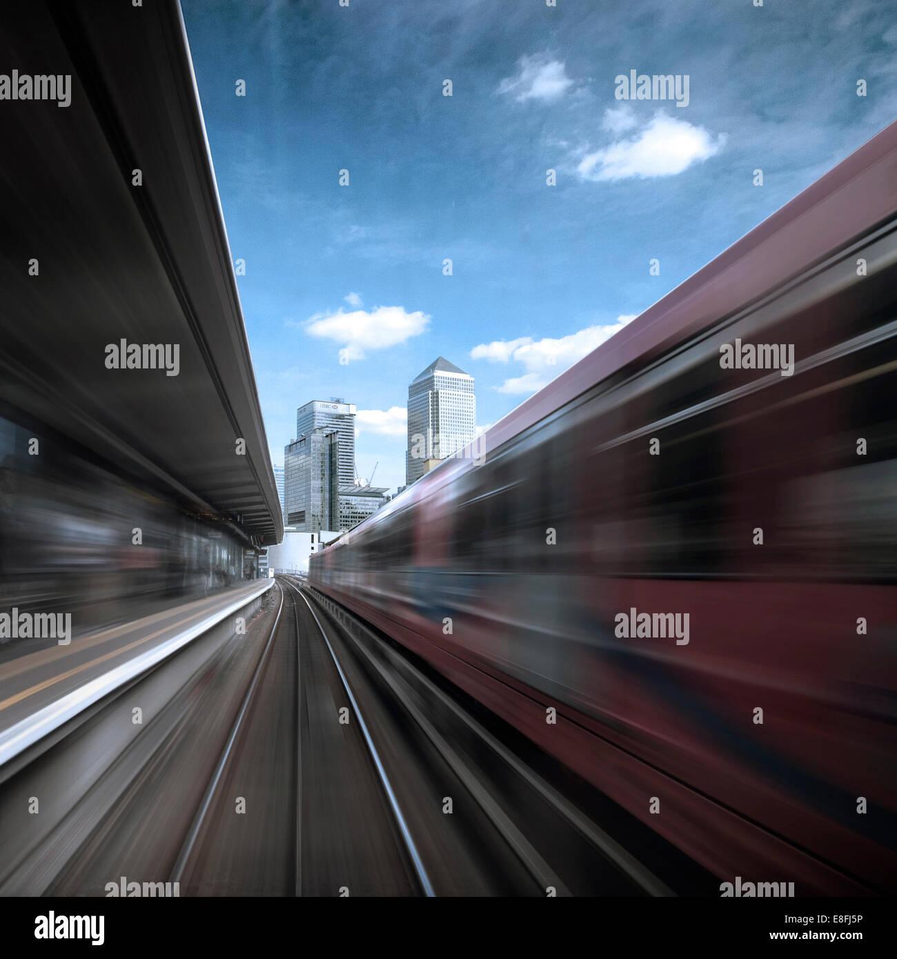 Großbritannien, England, London, Canary Wharf, Blick vom Räderwerk Stockbild