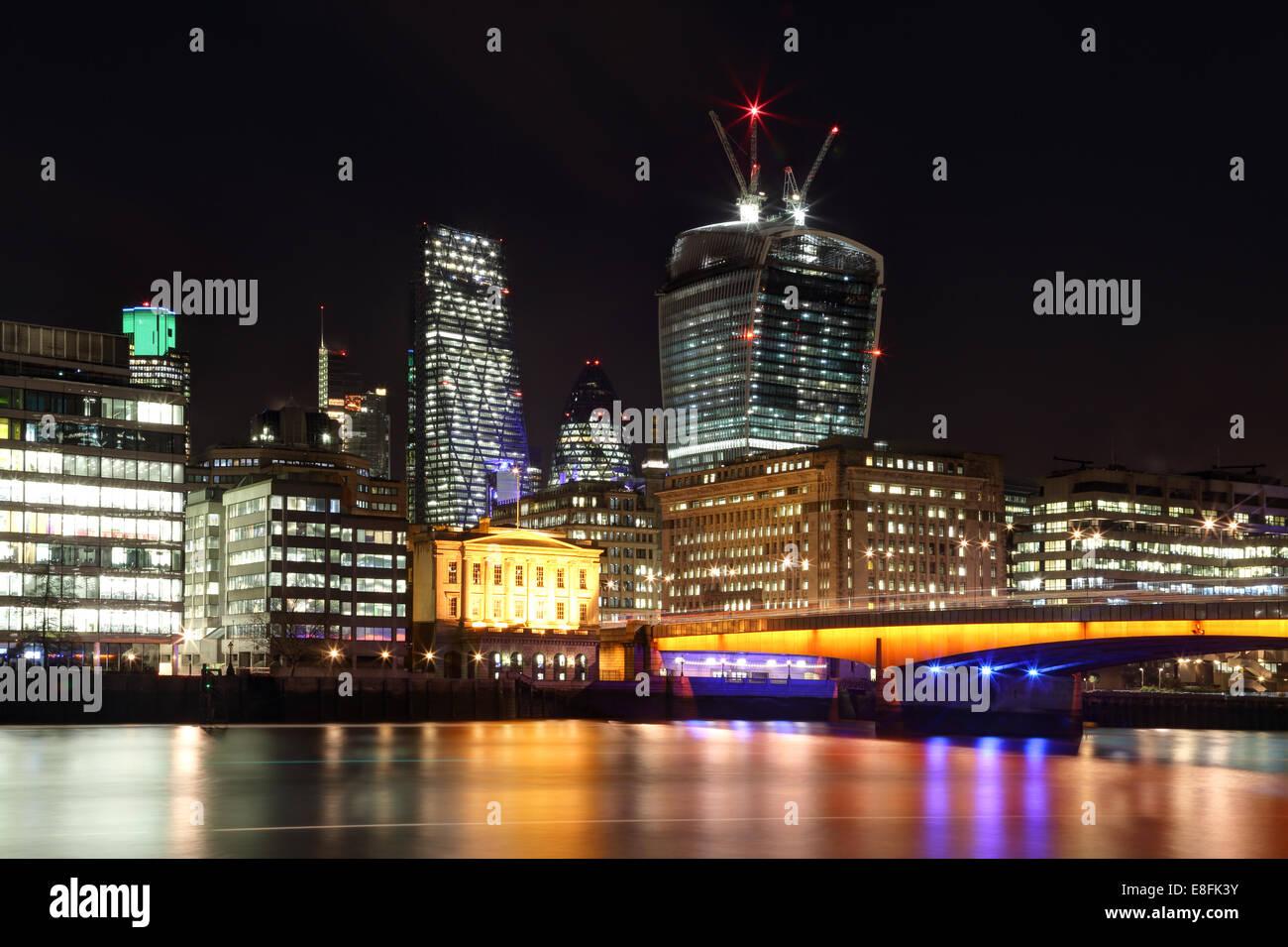 London, UK die City von London Stockbild