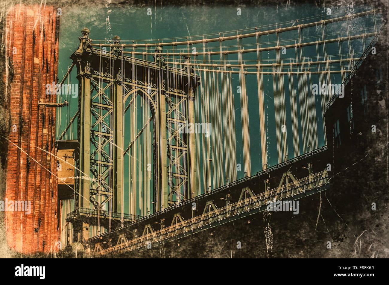 USA, New York State, New York City, Brücke Stockbild