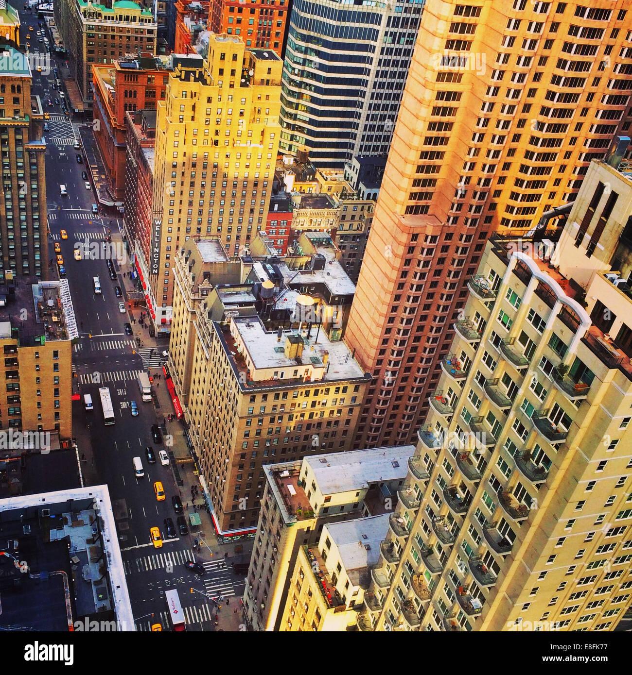 USA, New York State, New York City, New York City Skyline von oben Stockbild