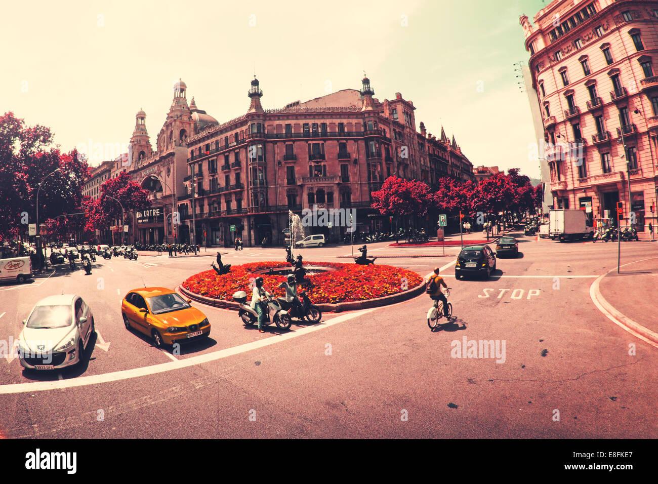 Spanien, Barcelona, Straßenszene Stockbild