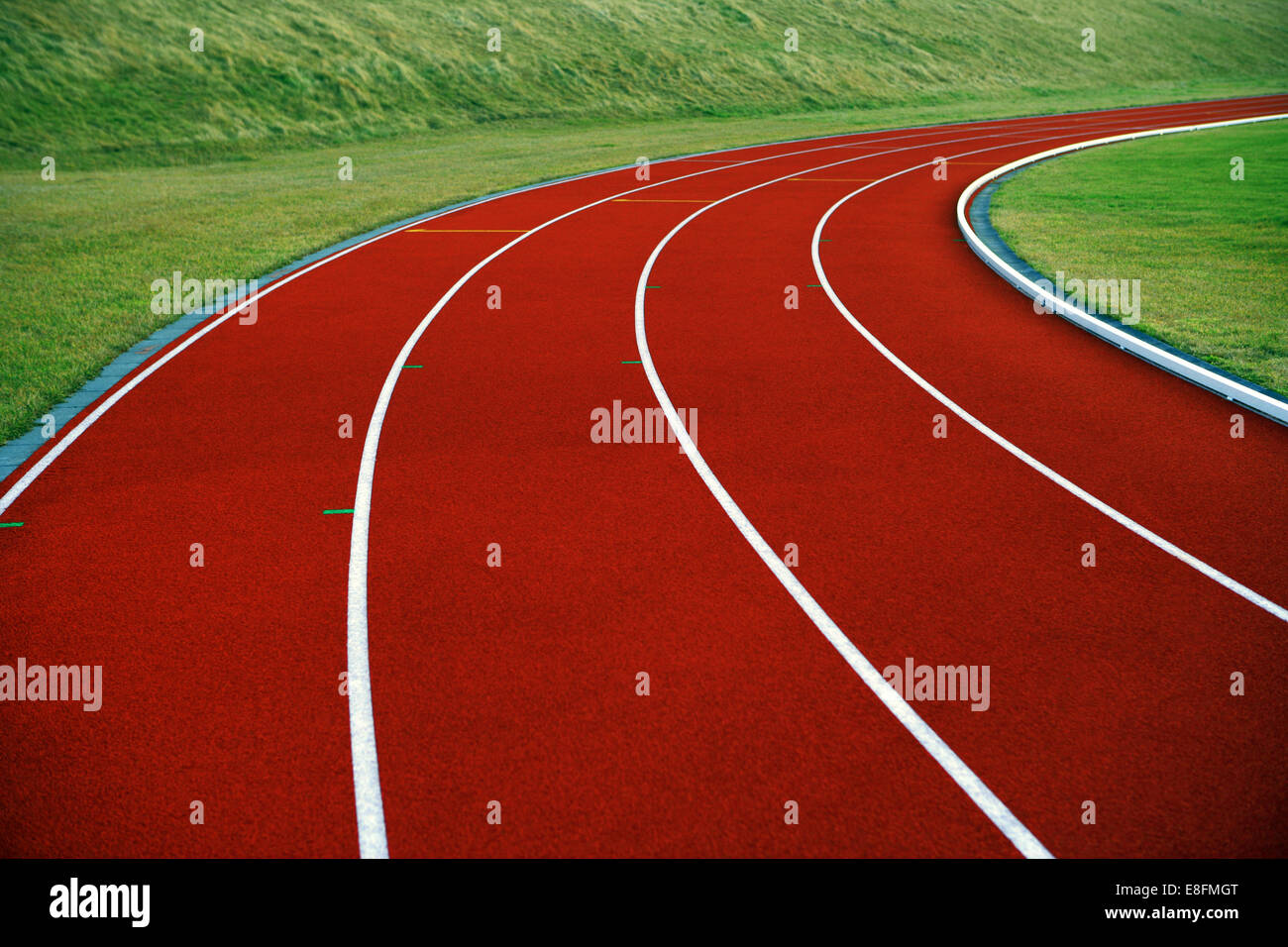 Nahaufnahme der Laufstrecke Stockbild