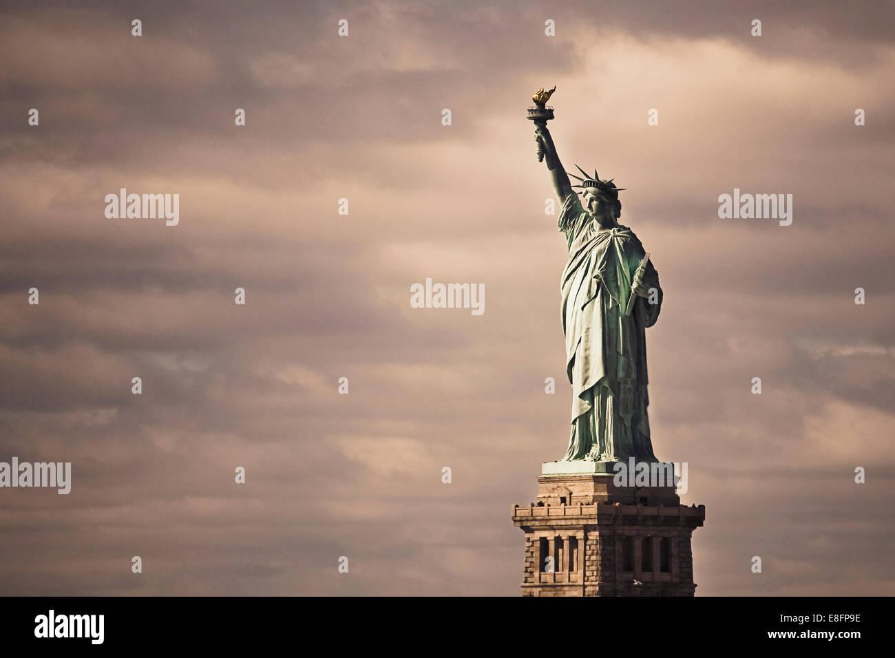 USA, New York State, New York City, Statue Of Liberty Stockbild