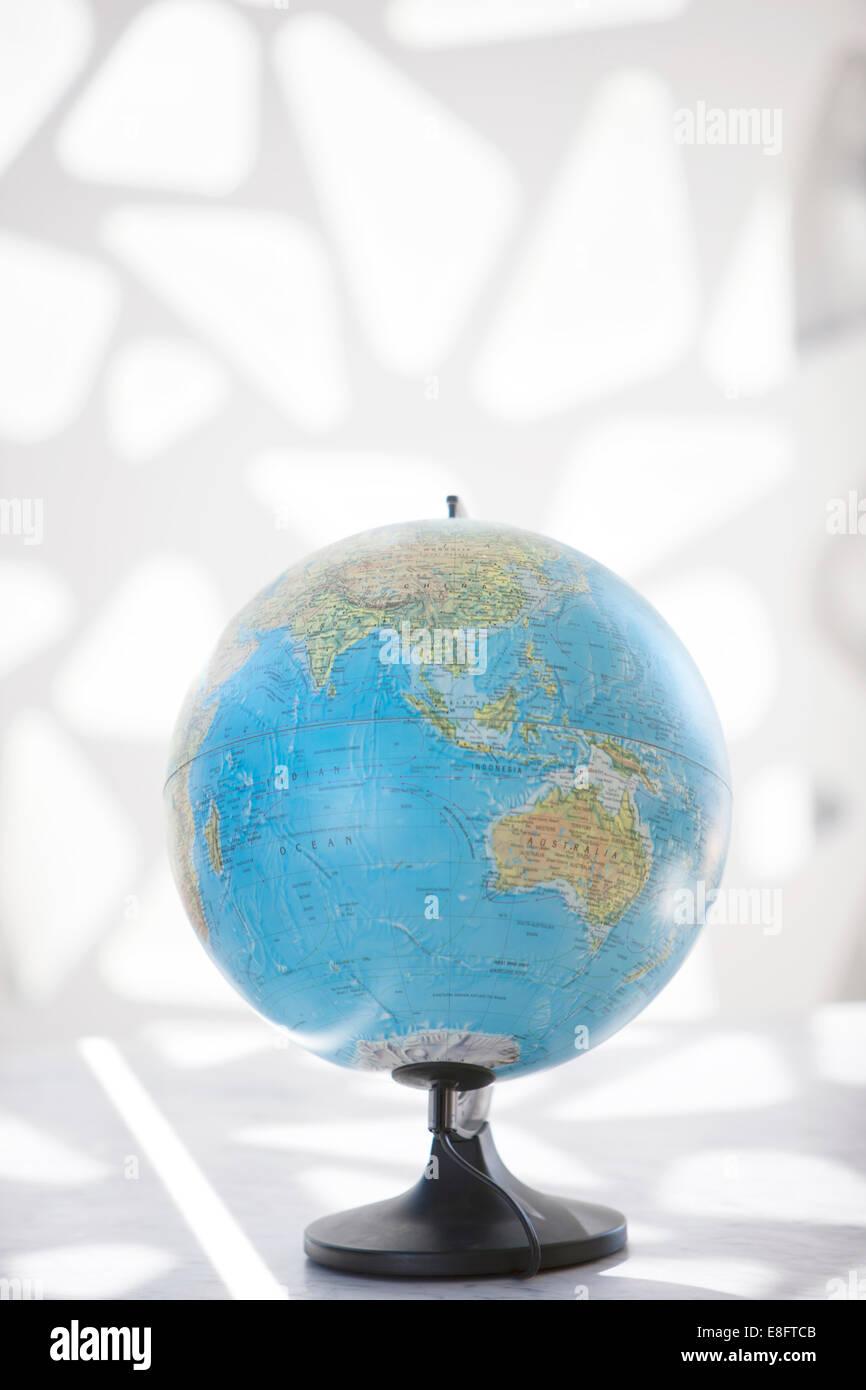 Globus mit Asien und Australien Stockbild