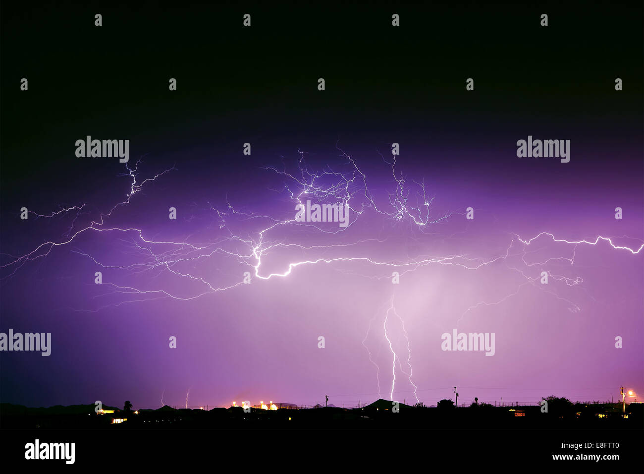 Monsun Sturm, Arlington, Arizona, America, USA Stockbild