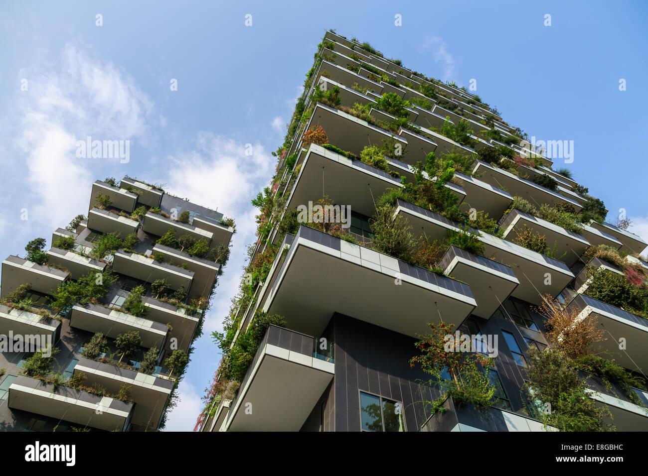Bosco Verticale Gebäude befindet sich in der Porta Nuova Komplex, Mailand, Italien Stockbild