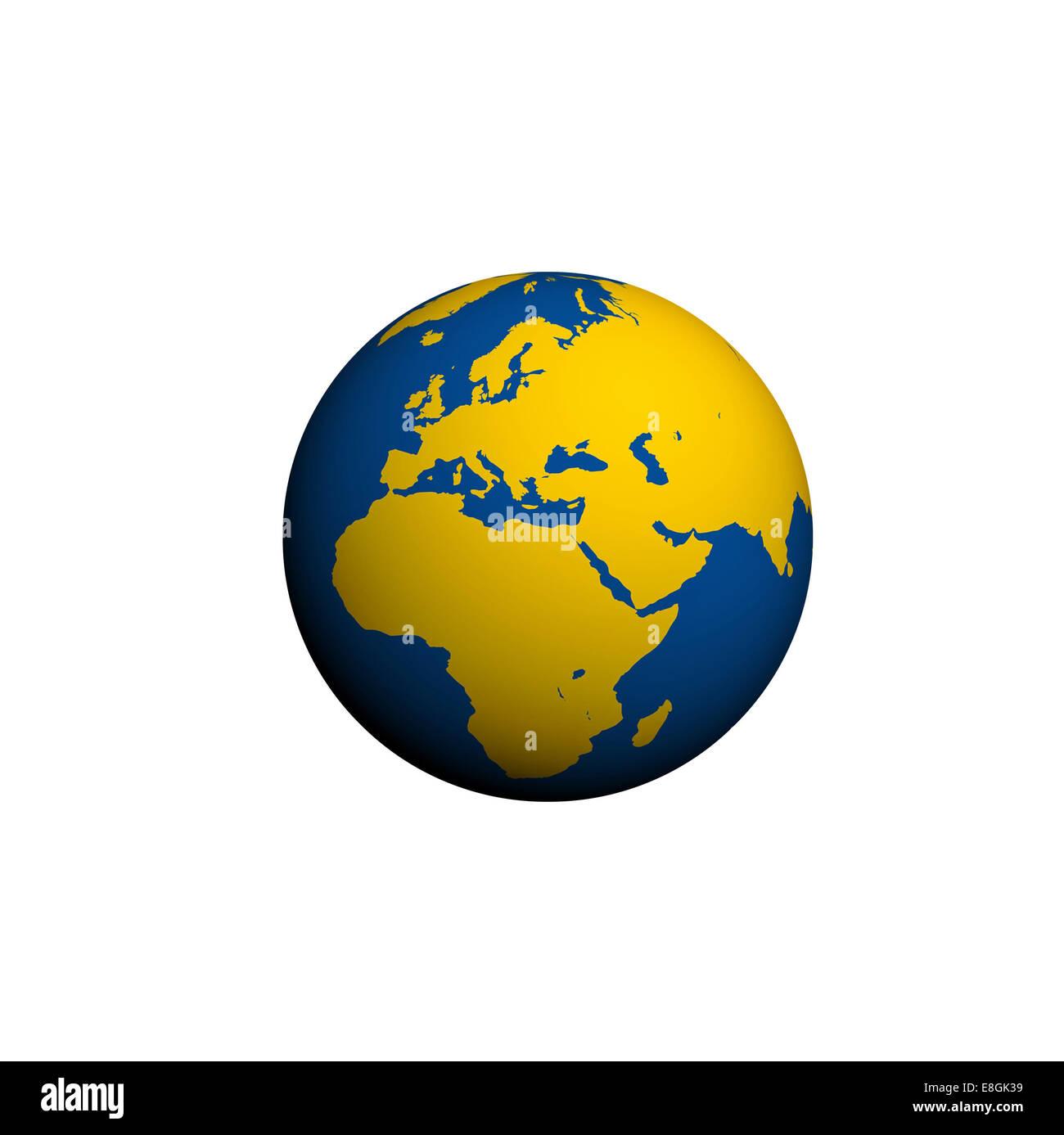 Digital erzeugte Bild des Planetenerde Stockbild