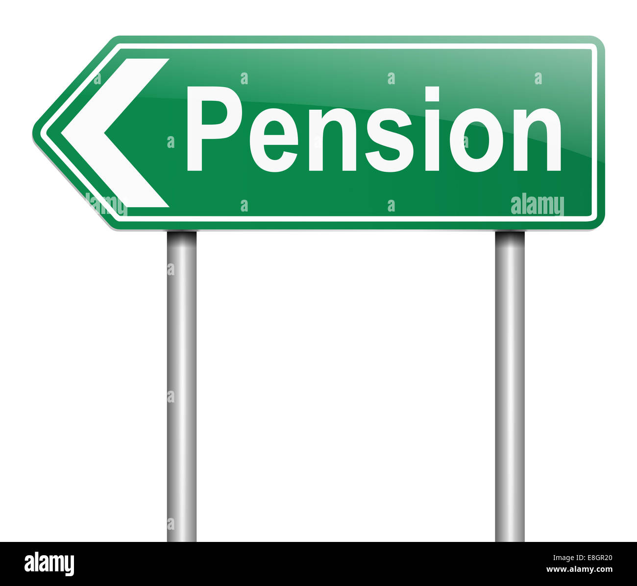 Pension-Konzept. Stockbild