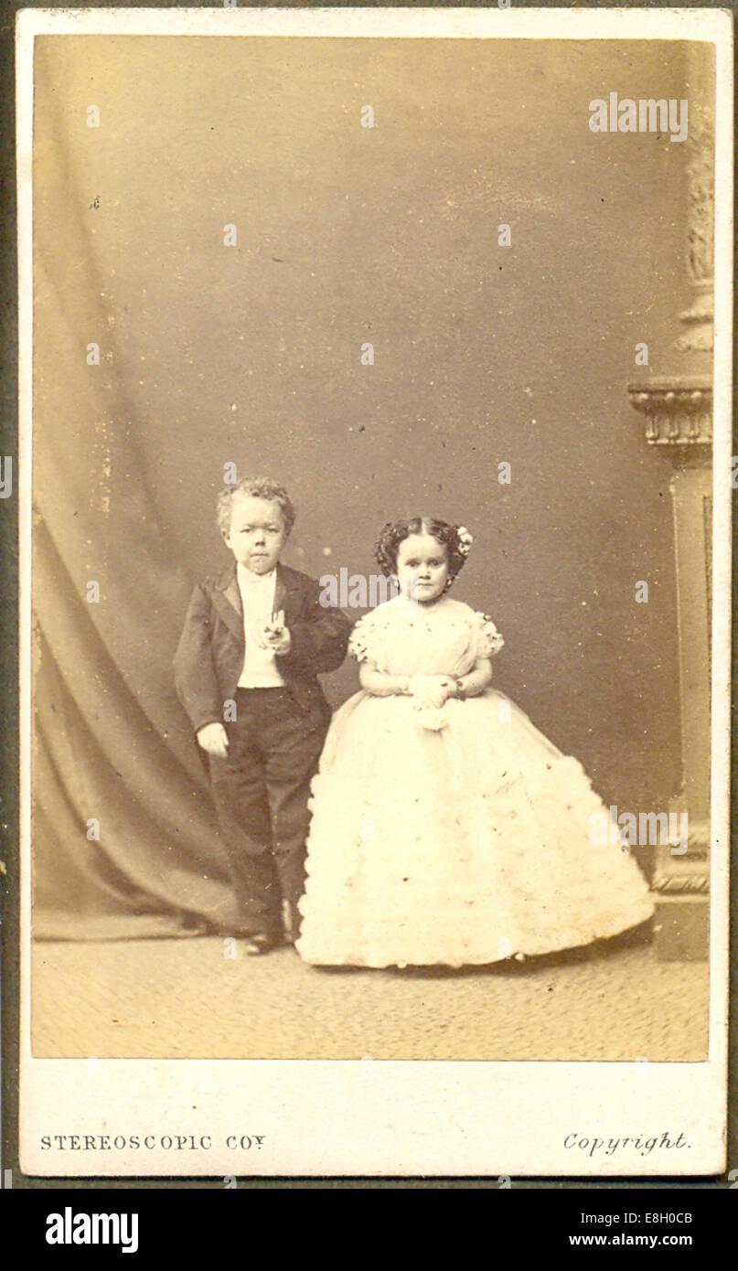 Carte De Visite Foto Von Commodore Nutt Und Minnie Warren