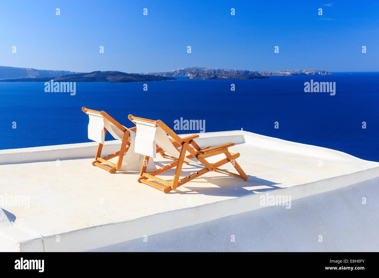 Santorin, Griechenland Stockbild