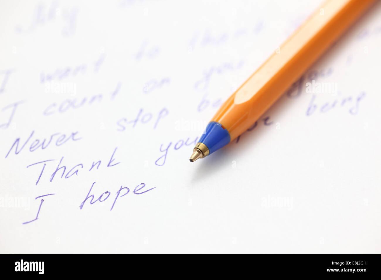 Schreiben Brief An Einen Freund Close Up Stockfoto Bild 74155889