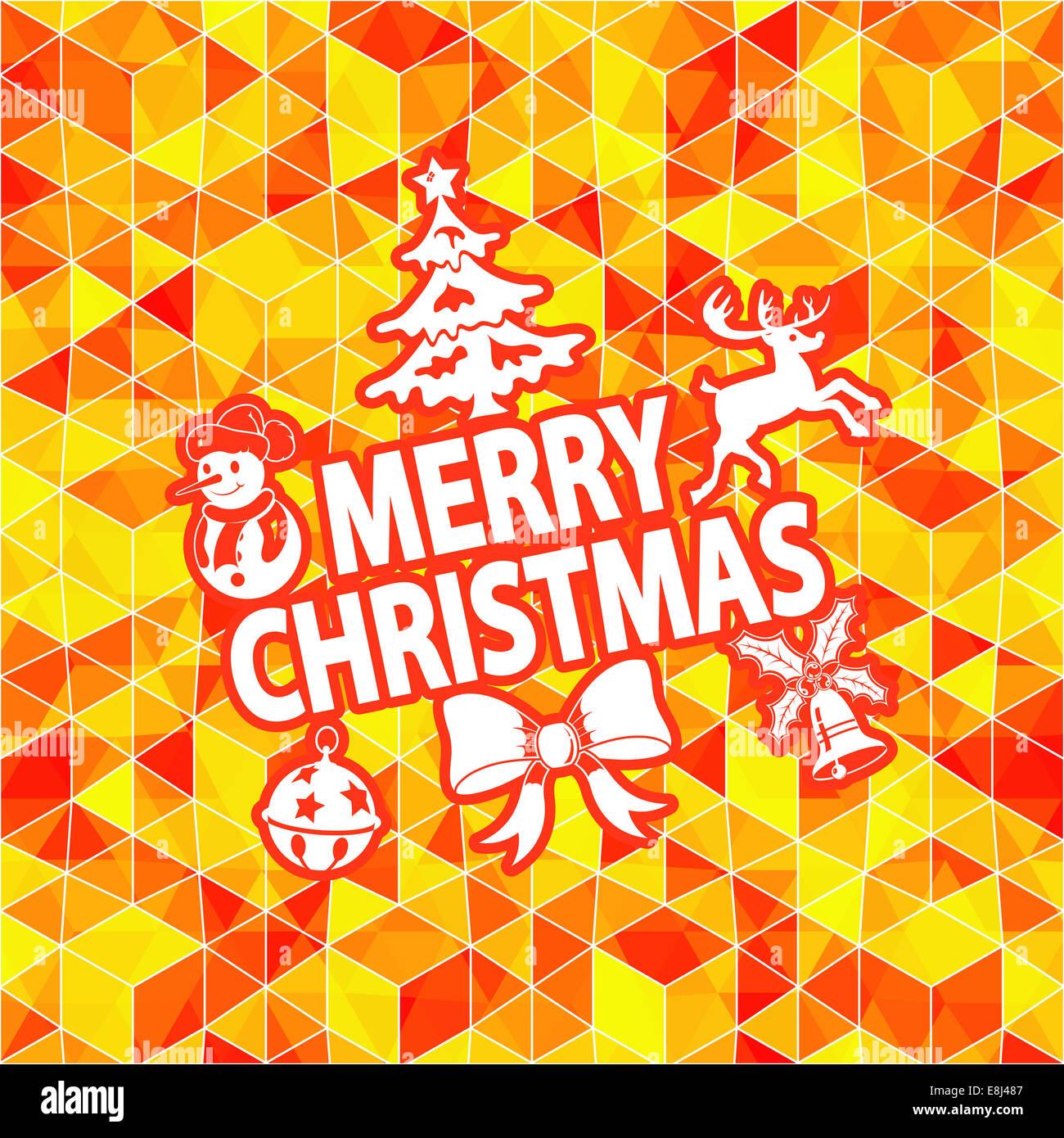 Weihnachten Konzept Mit Bell Hirsch Schneemann Baum Und Bogen Auf