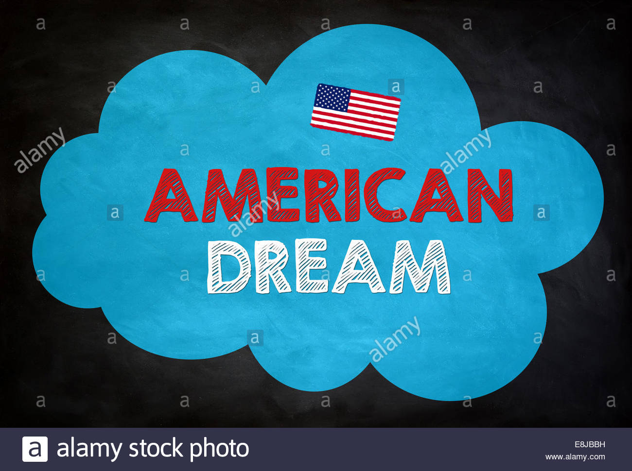 AMERICAN DREAM - Tafel-Konzept Stockbild