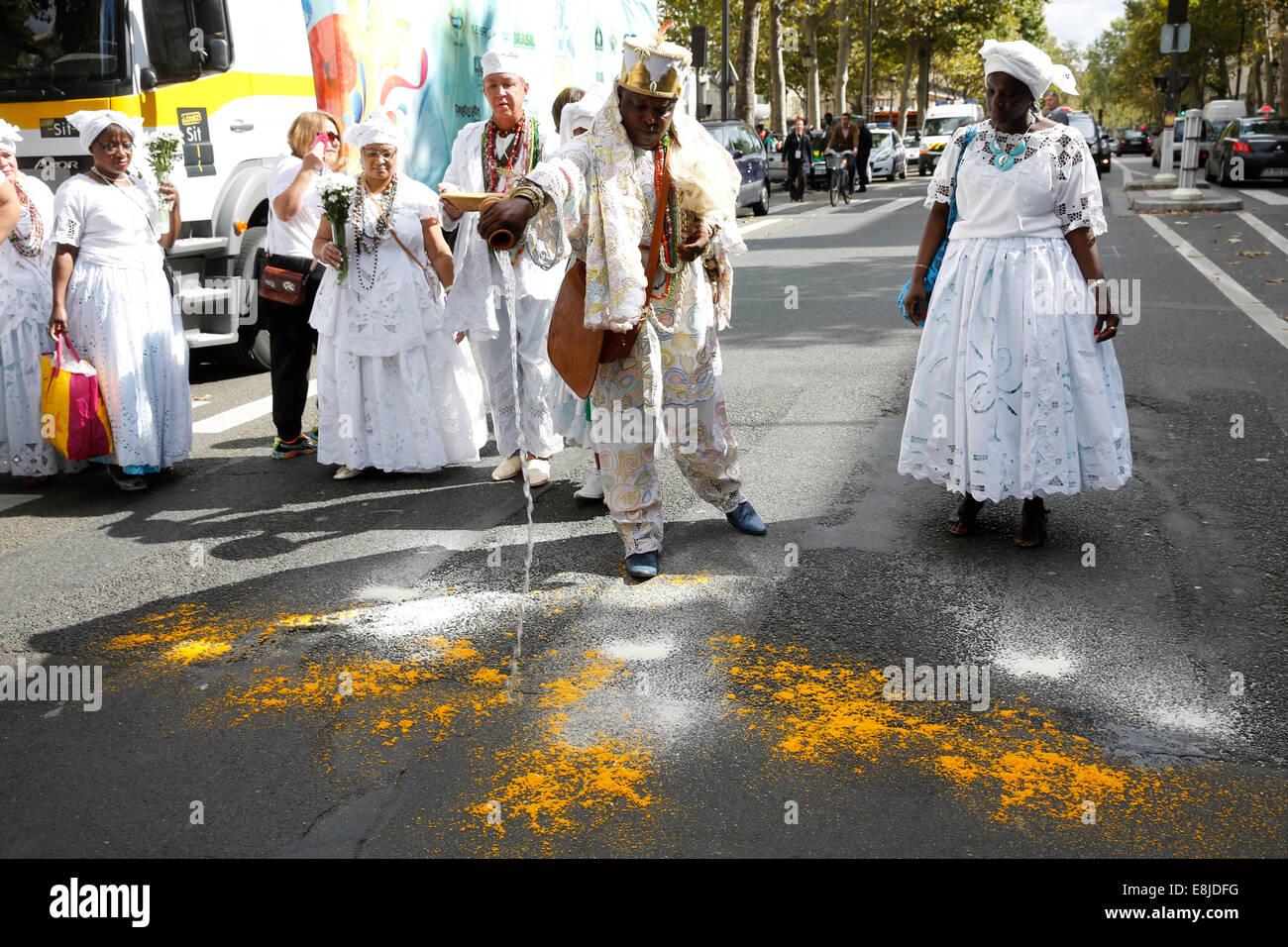 Afro-brasilianischen Religion Angebote Stockbild