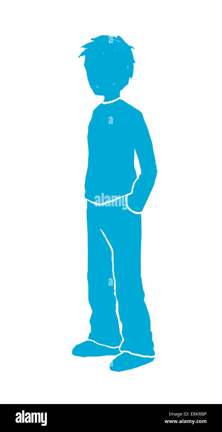 Piktogramm eines jungen Mannes. Stockbild