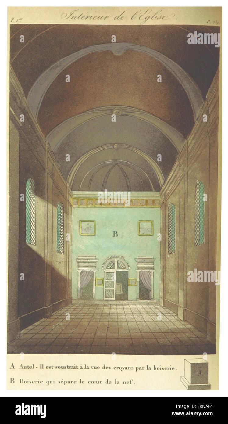 VDS pg264 Interieur de Eglise Stockbild