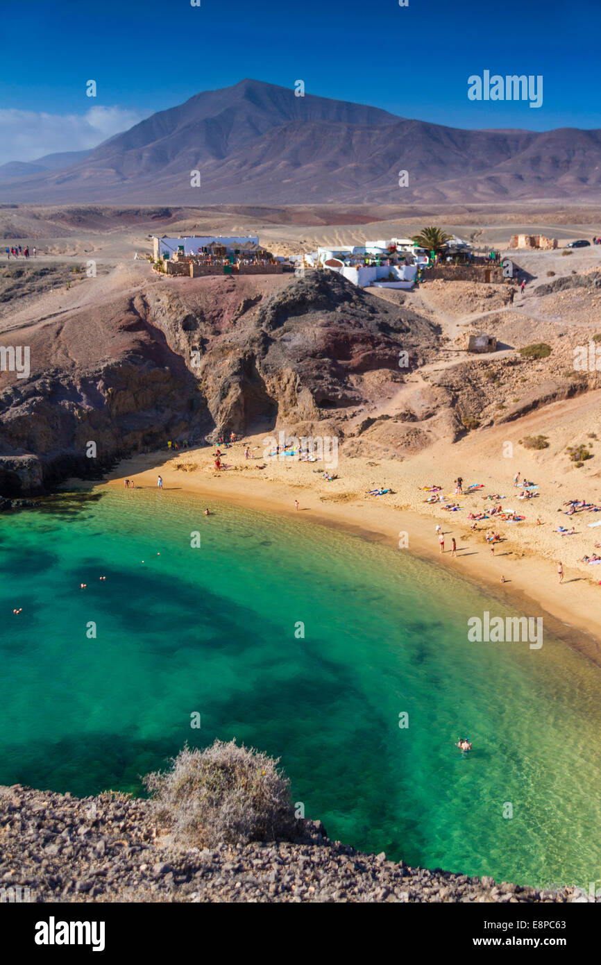 Papagayo-Strand auf Lanzarote Stockbild