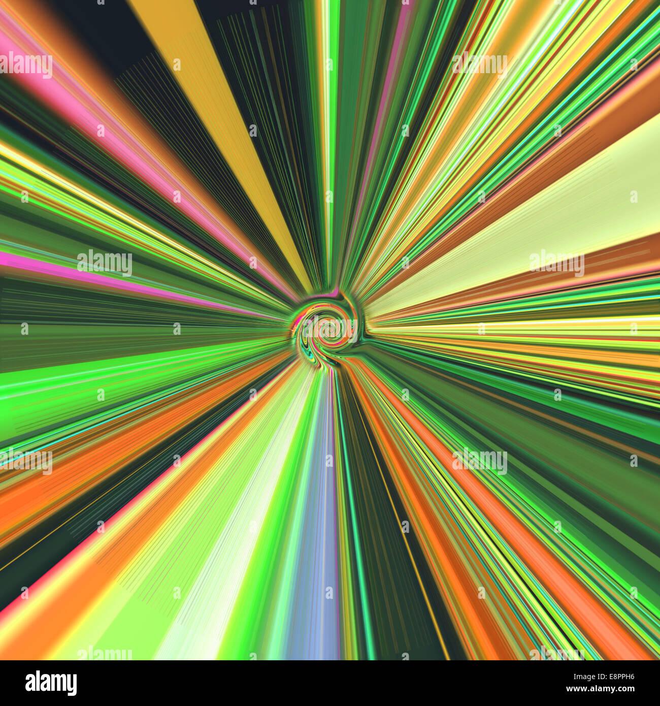 Wirbel in der computergenerierte Kunst / Foto-Manipulation Stockbild