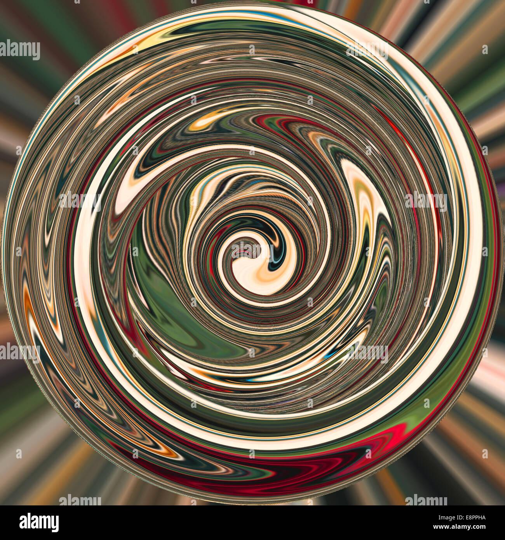 Konzentrische Kreise in computergenerierte Kunst / Foto-Manipulation Stockbild