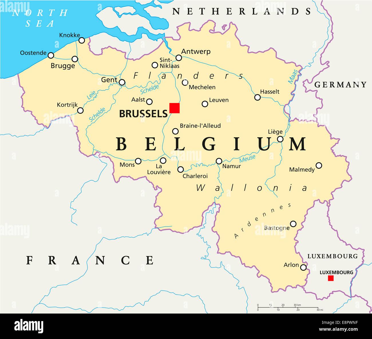 Belgien Karte Umriss.Belgien Karte Stockfotos Belgien Karte Bilder Alamy