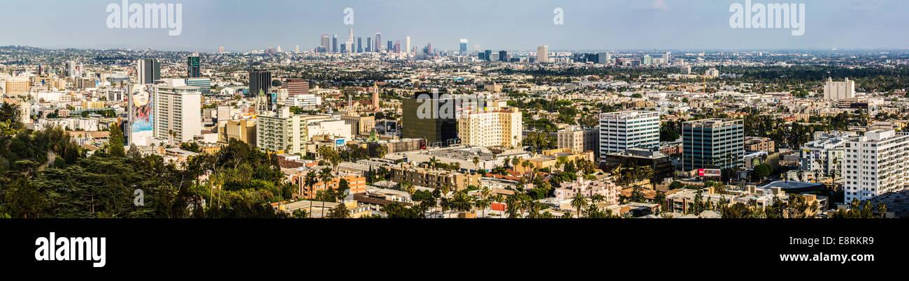 Los Angeles Panorama, Kalifornien, USA Stockbild