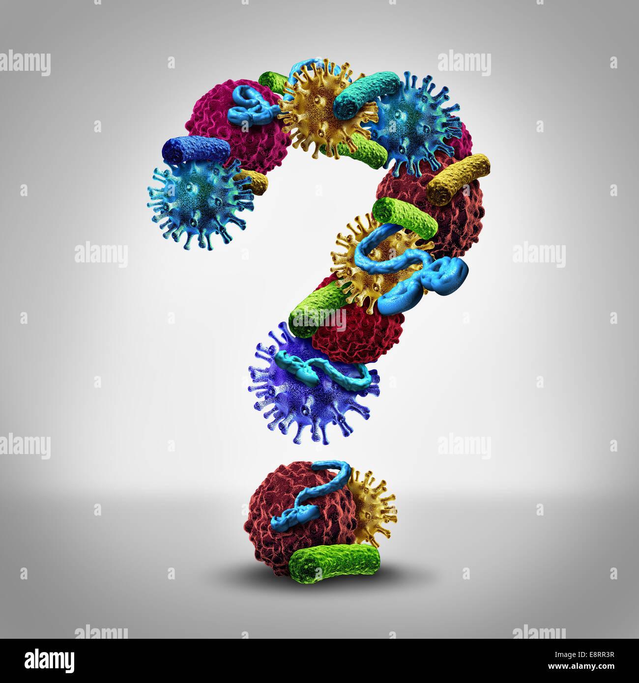 Fragen Medizinische Krankheitskonzept Als Eine Gruppe Von Bakterien