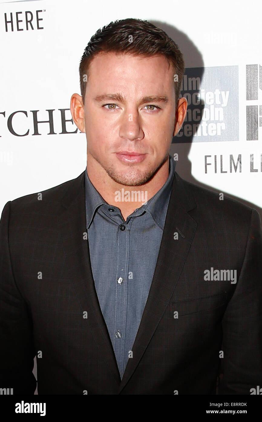 """NEW YORK-OCT 10: Schauspieler Channing Tatum besucht die """"Foxcatcher""""-Premiere auf dem 52. New York Film Stockbild"""