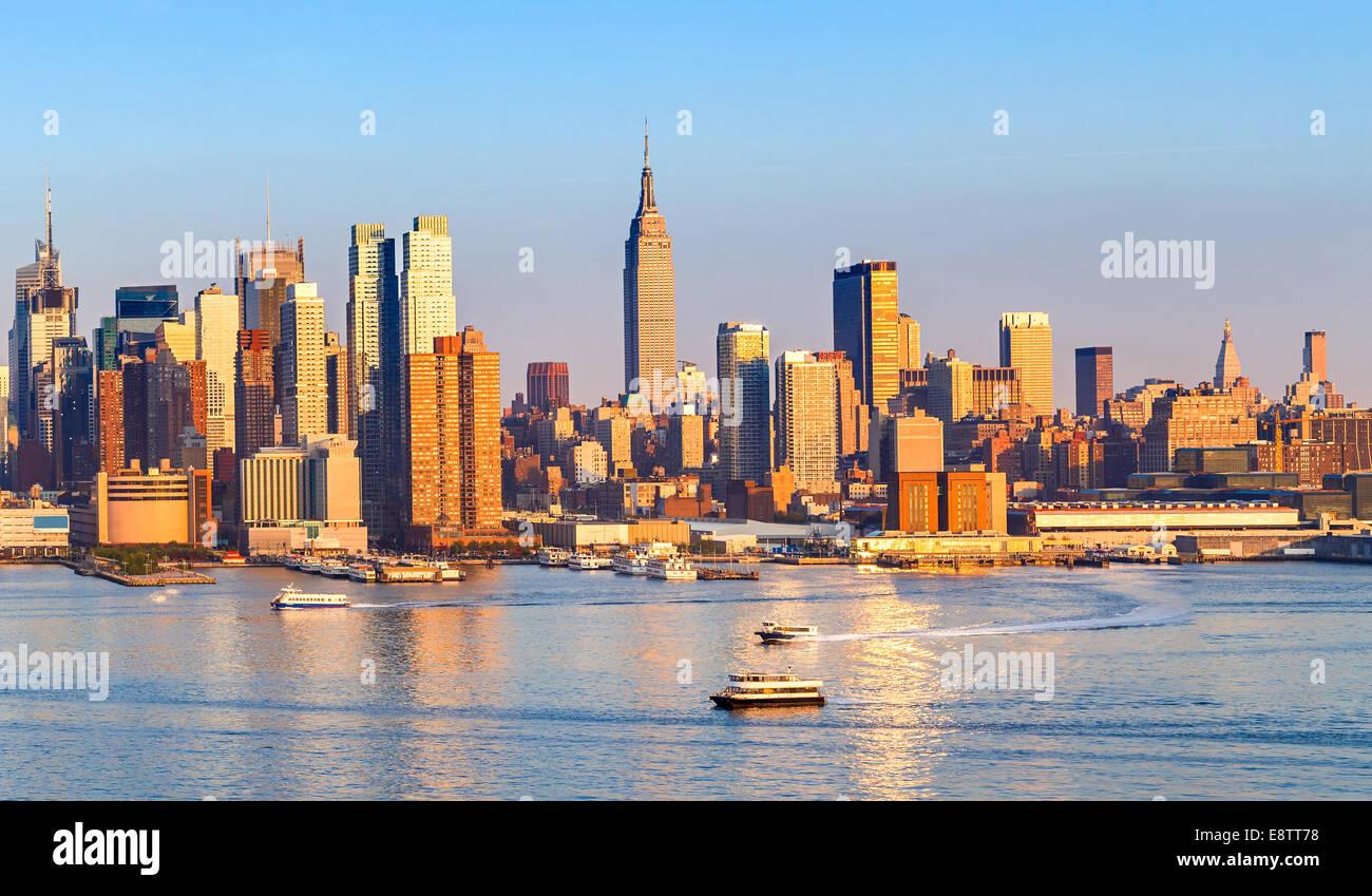 Skyline von Manhattan Stockbild